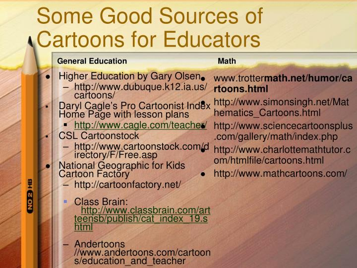 Some Good Sources of Cartoons for Educators