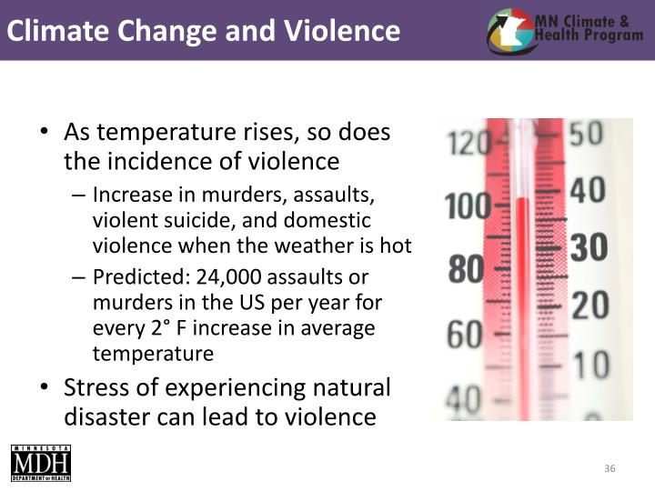 Climate Change and Violence