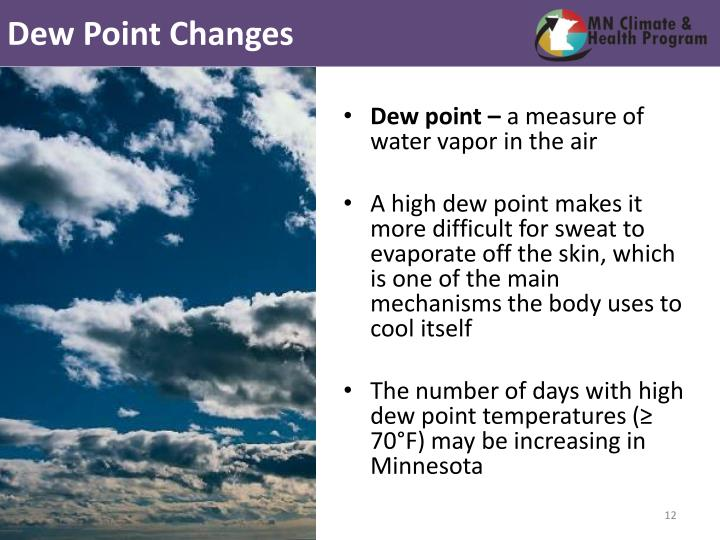 Dew Point Changes