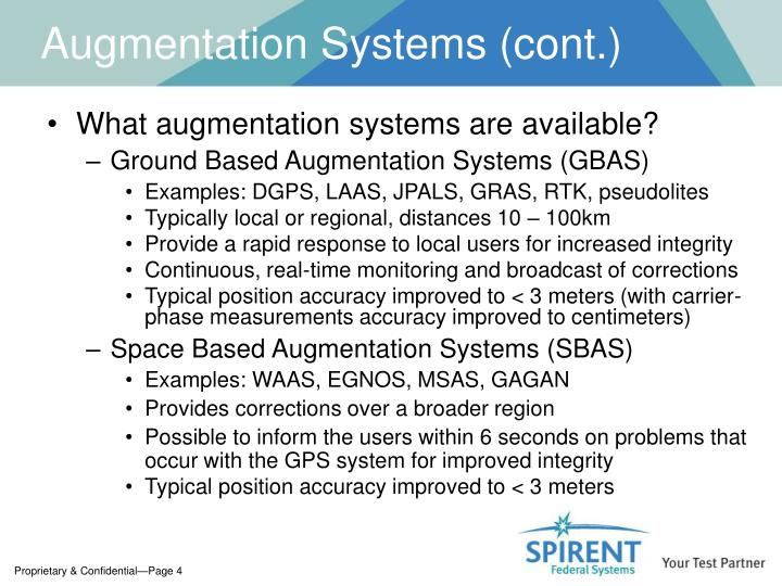 Augmentation Systems (cont.)