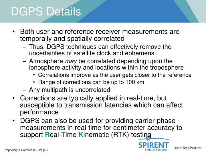 DGPS Details