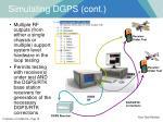 simulating dgps cont