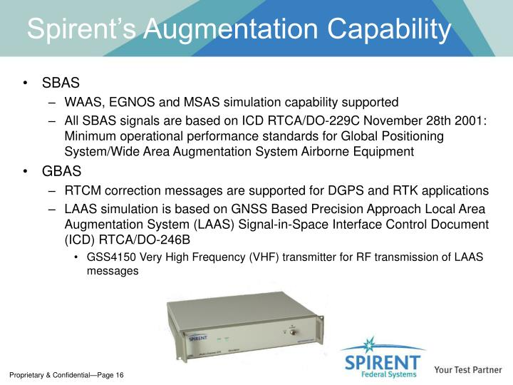 Spirent's Augmentation Capability