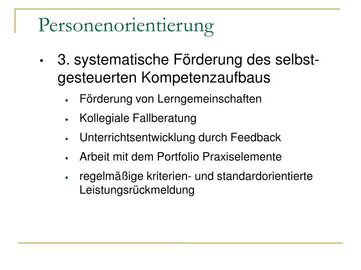 3.systematische Förderung des selbst-gesteuerten Kompetenzaufbaus