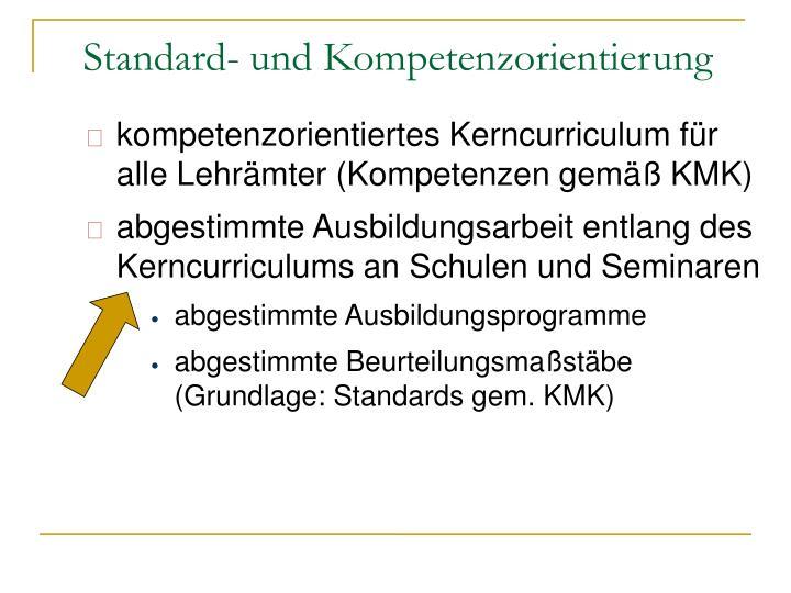 kompetenzorientiertes Kerncurriculum für alle Lehrämter (Kompetenzen gemäß KMK)