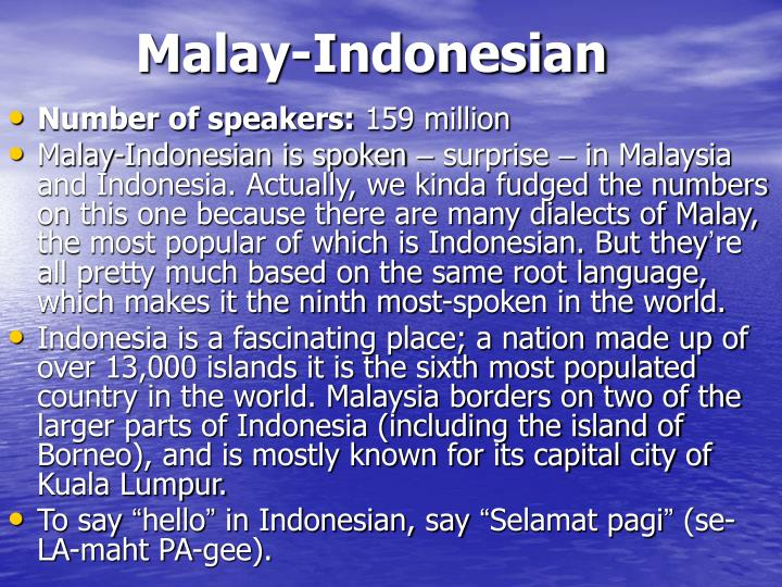 Malay-Indonesian