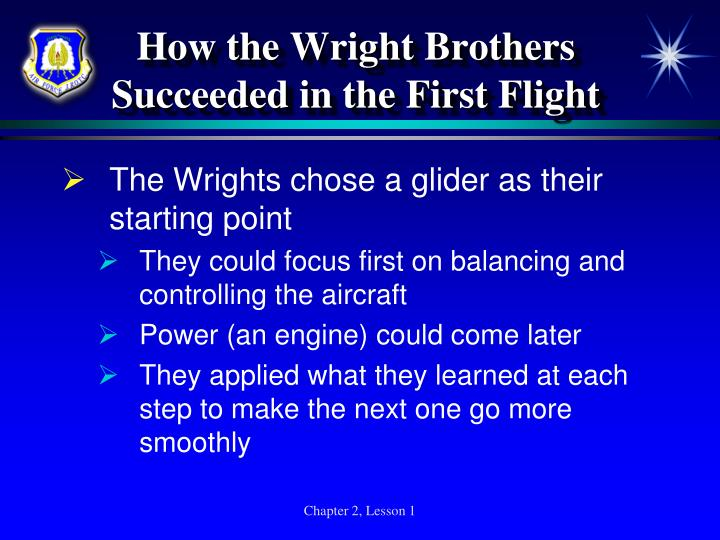 How the Wright Brothers