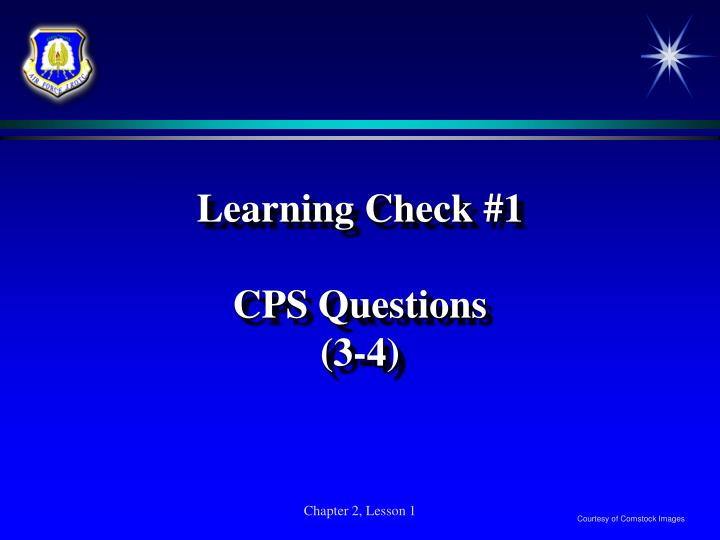Learning Check #1