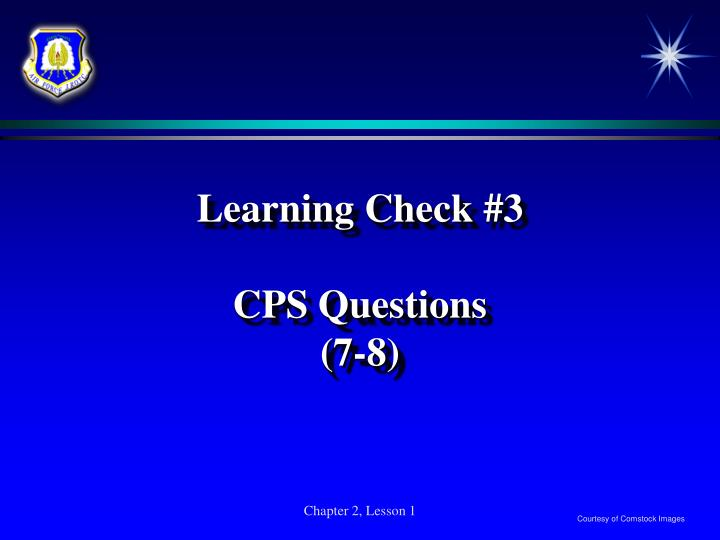 Learning Check #3