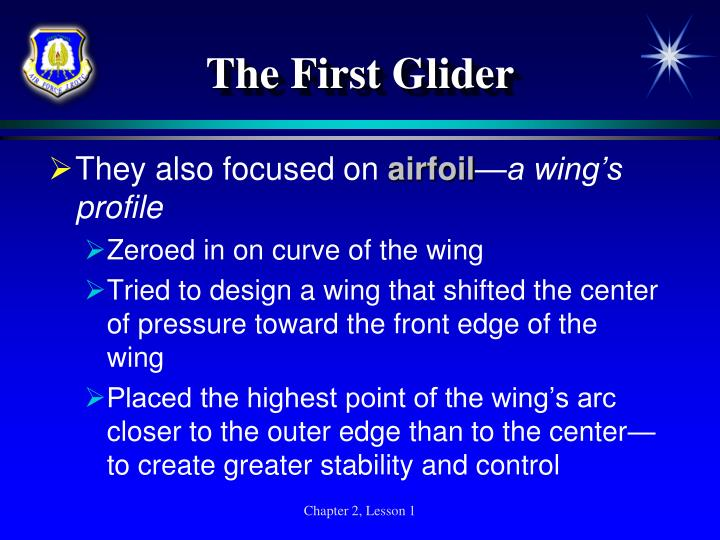The First Glider