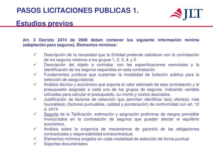 PASOS LICITACIONES PUBLICAS 1.