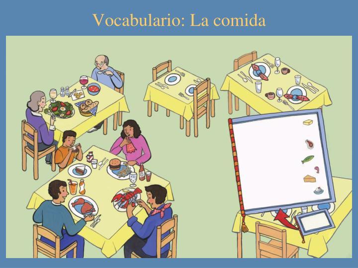Vocabulario: La comida