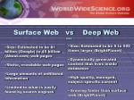 surface web vs deep web 2005