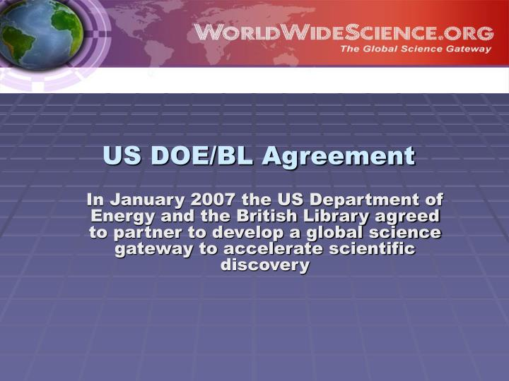 US DOE/BL Agreement