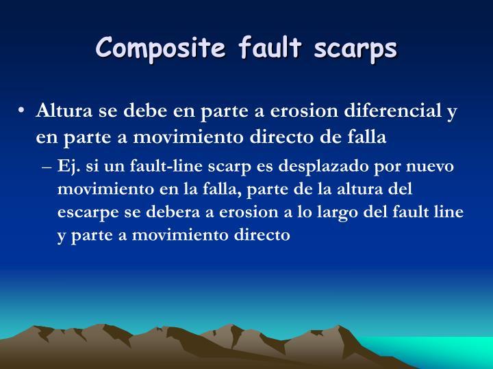 Composite fault scarps
