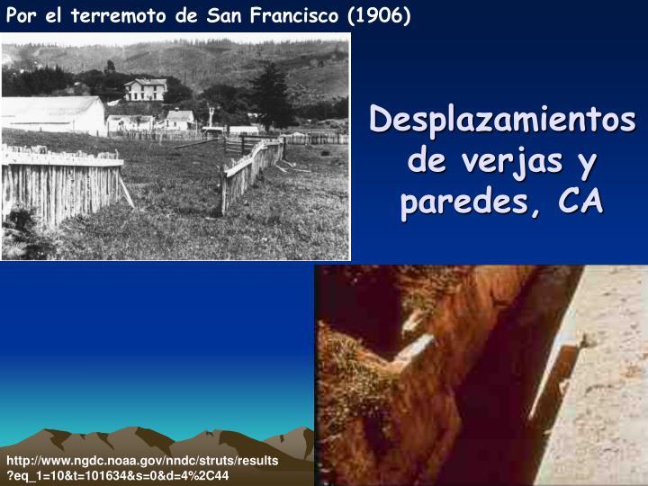 Por el terremoto de San Francisco (1906)