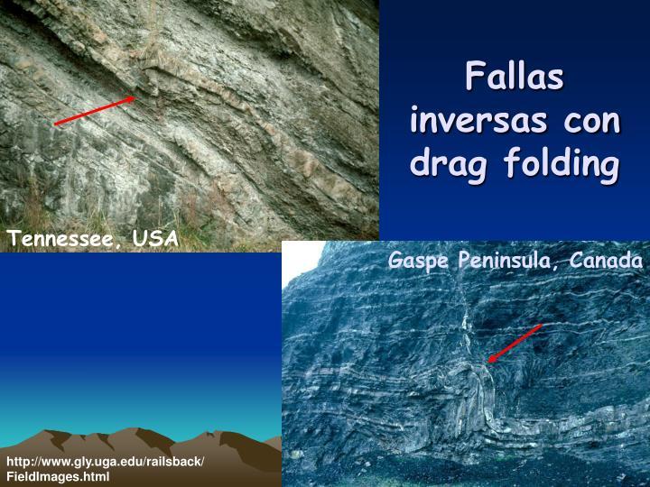 Fallas inversas con drag folding