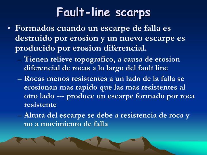 Fault-line scarps