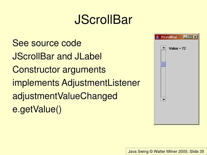 JScrollBar