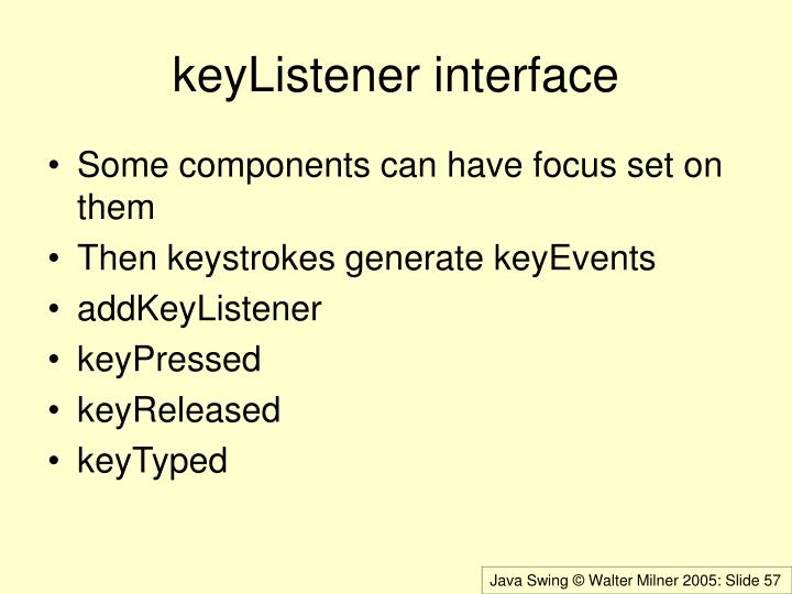 keyListener interface