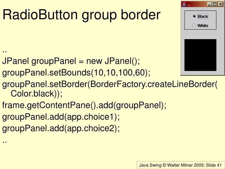 RadioButton group border