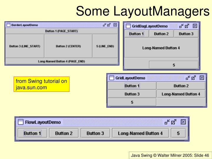 Some LayoutManagers