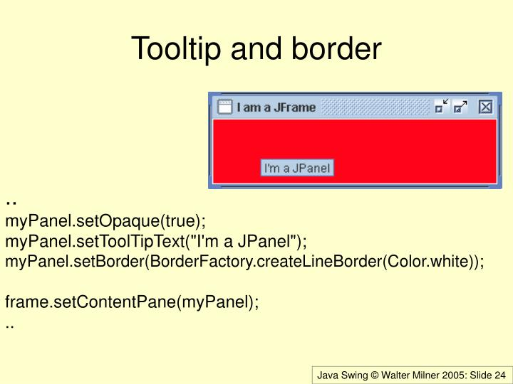 Tooltip and border