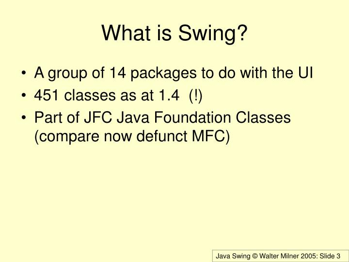 What is Swing?
