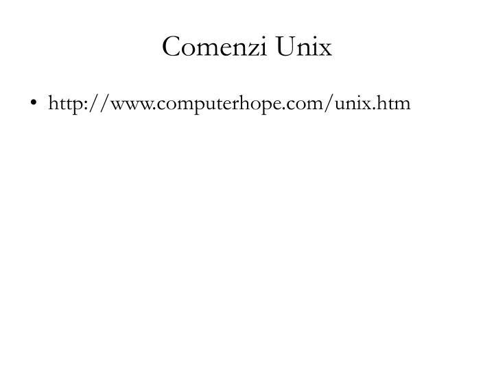 Comenzi Unix