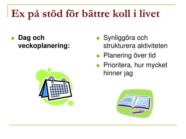 Dag och veckoplanering: