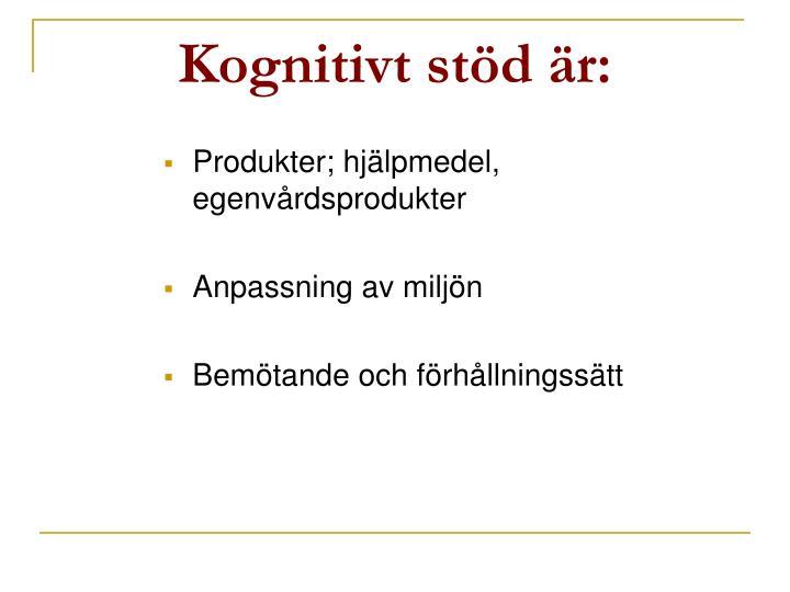 Kognitivt stöd är: