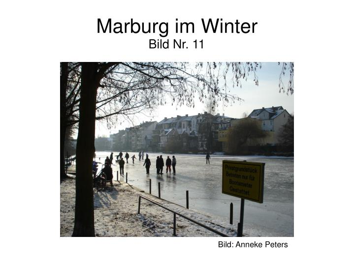 Marburg im Winter