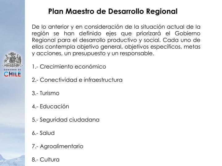 Plan Maestro de Desarrollo Regional