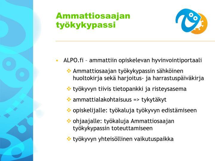 ALPO.fi – ammattiin opiskelevan hyvinvointiportaali