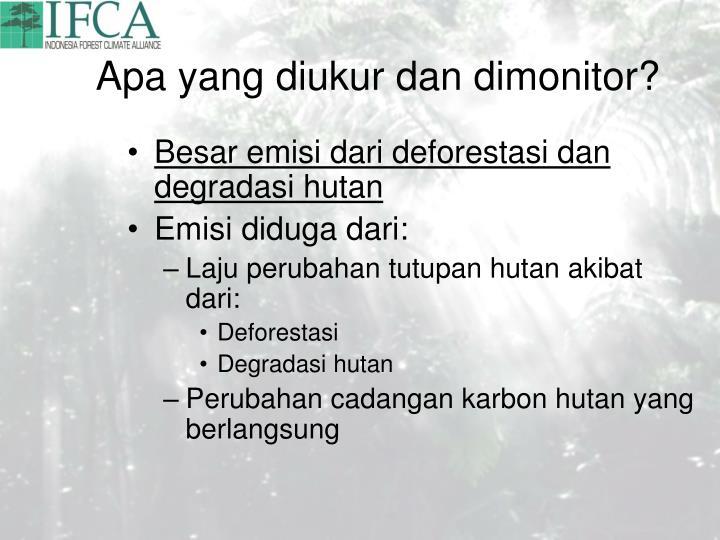 Apa yang diukur dan dimonitor?