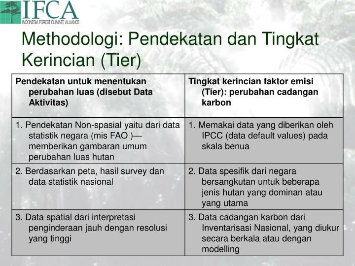 Methodologi: Pendekatan dan Tingkat Kerincian (Tier)