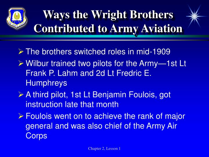 Ways the Wright Brothers