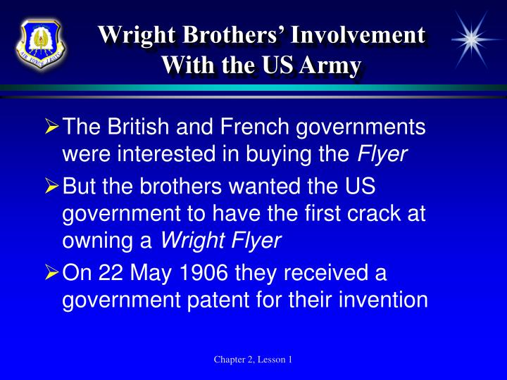 Wright Brothers' Involvement