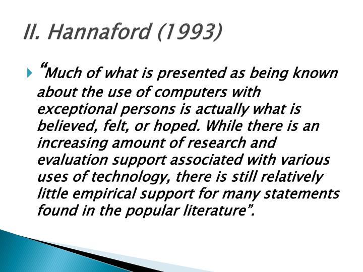 II. Hannaford (1993