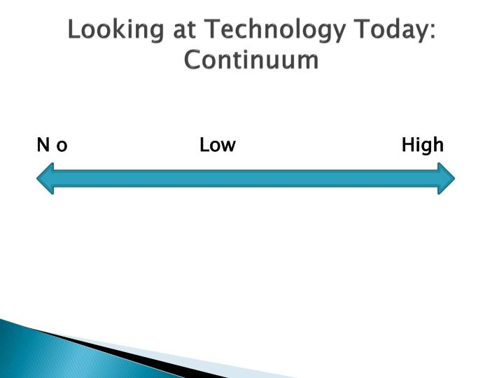 Looking at Technology Today:  Continuum