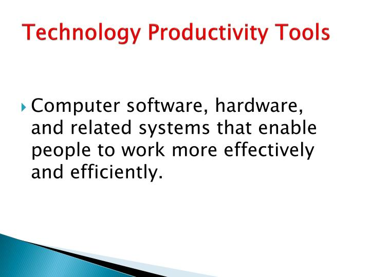 Technology Productivity Tools