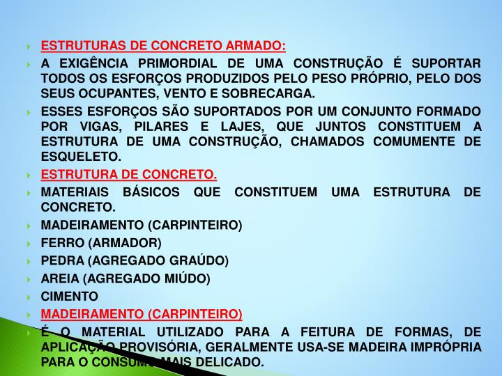 ESTRUTURAS DE CONCRETO ARMADO: