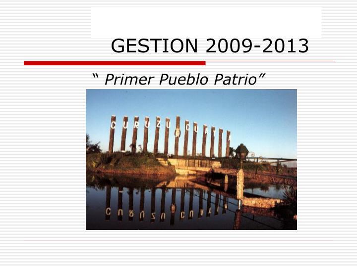 GESTION 2009-2013