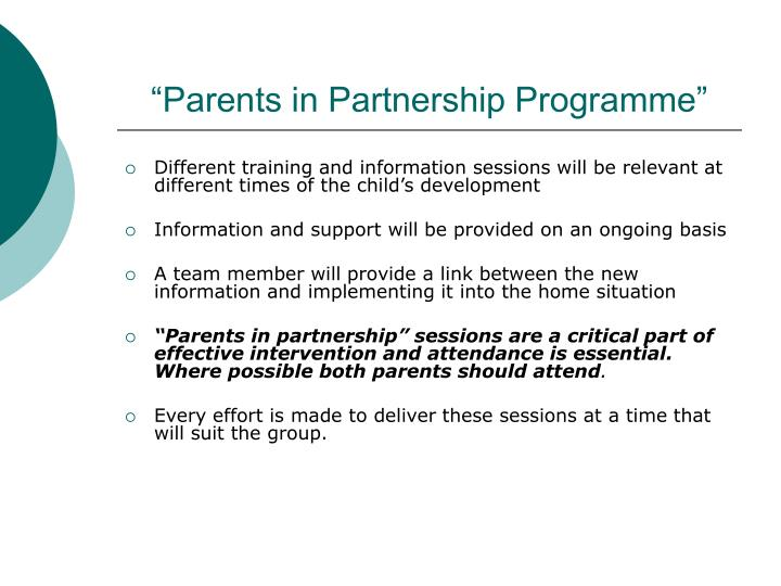 """Parents in Partnership Programme"""