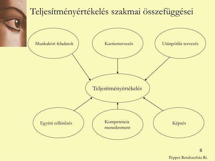 Teljesítményértékelés szakmai összefüggései