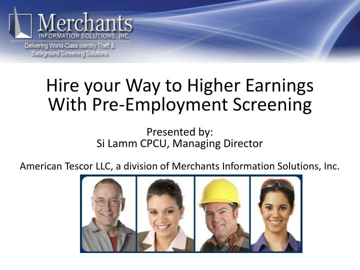 Hire your Way to Higher Earnings