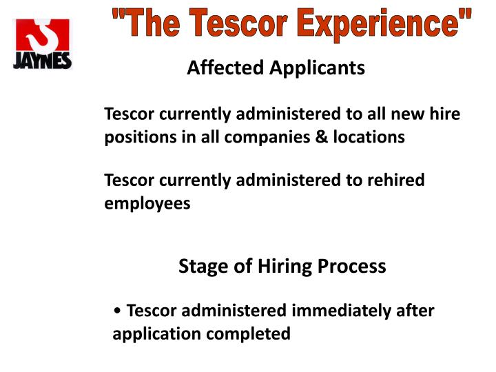 """The Tescor Experience"""