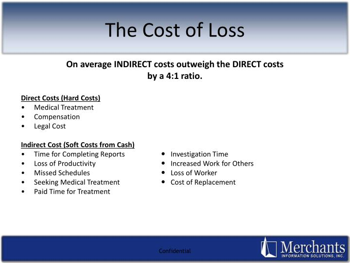 On average INDIRECT costs outweigh the DIRECT costs
