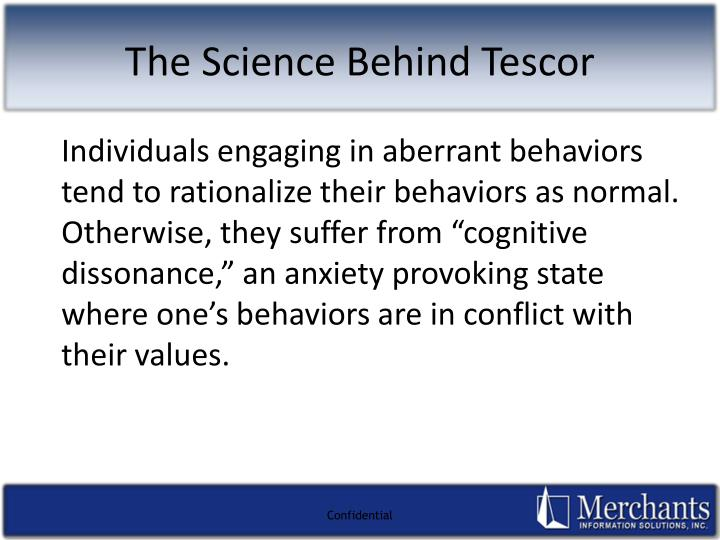 "Individuals engaging in aberrant behaviors tend to rationalize their behaviors as normal.  Otherwise, they suffer from ""cognitive dissonance,"" an anxiety provoking state where one's behaviors are in conflict with their values."