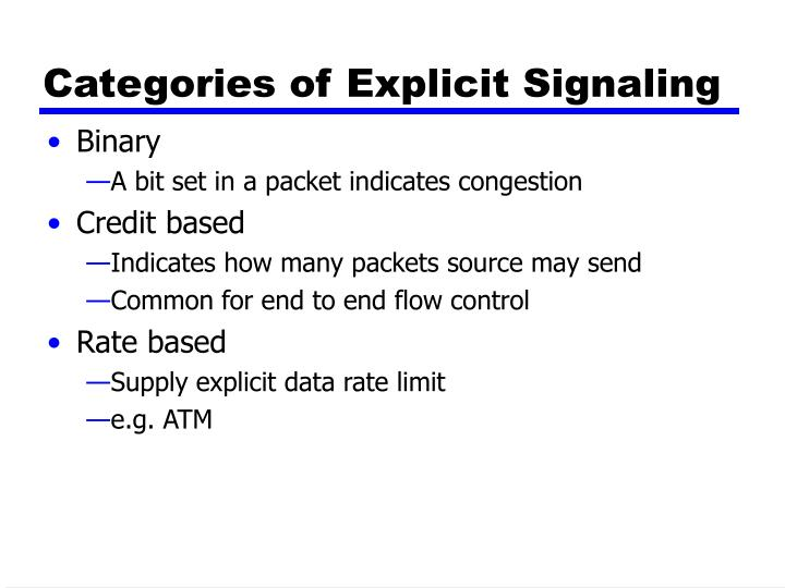 Categories of Explicit Signaling